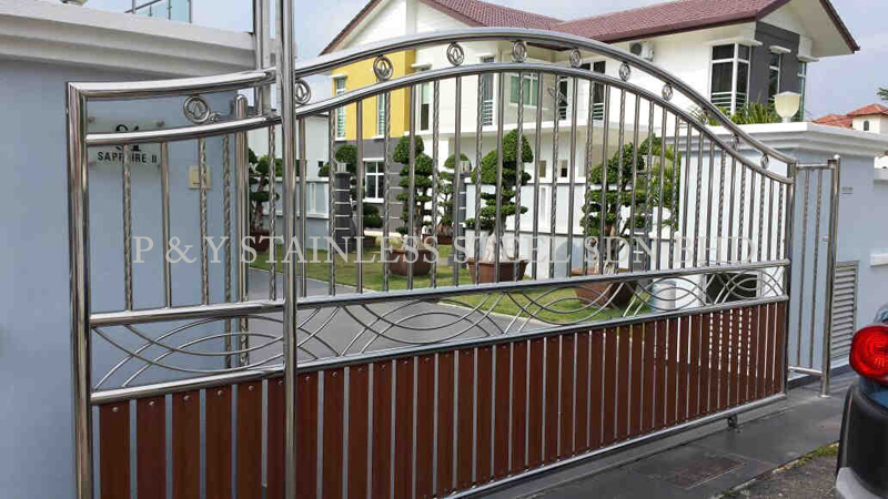 P & Y Stainless Steel Sdn Bhd | Gate & Doors | Double Leaf Door